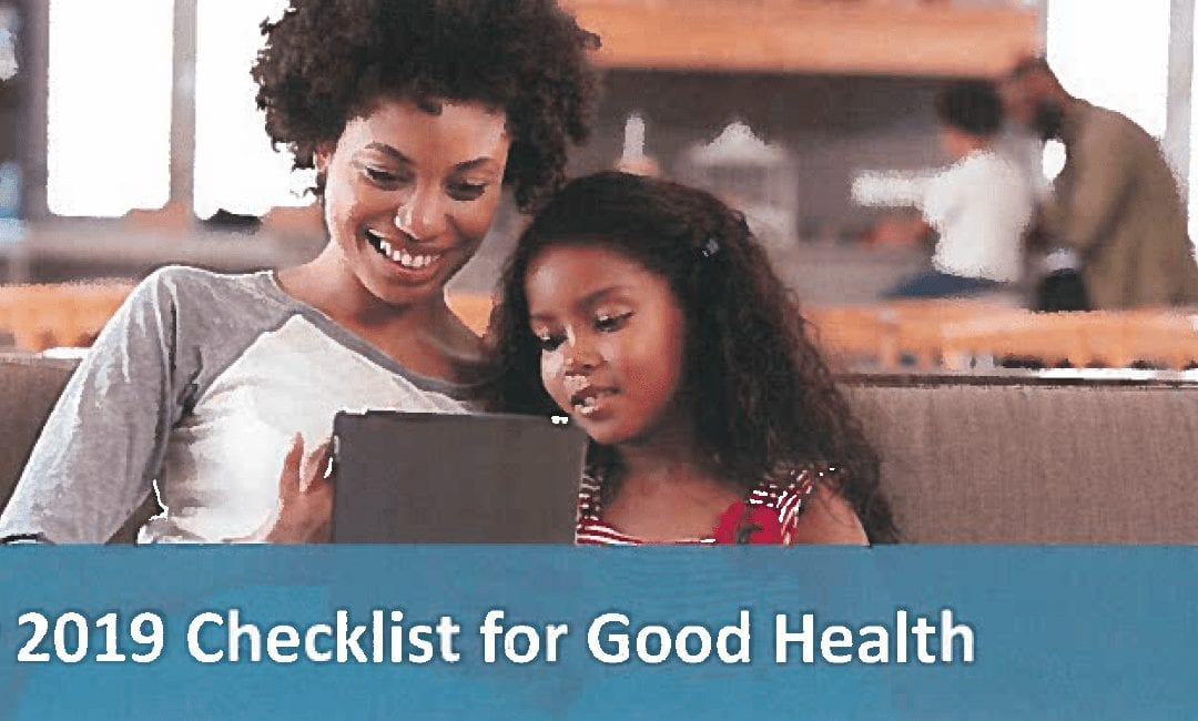 Your 2019 Checklist for Good Health